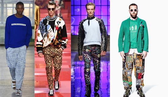 Леопардовые мужские брюки