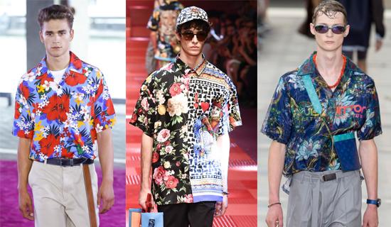 Яркая летняя мужская рубашка