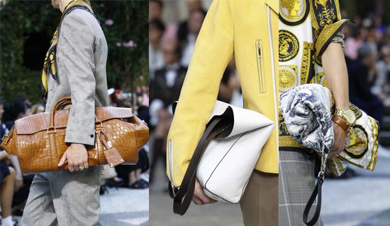 Мужская сумка из крокодильей кожи