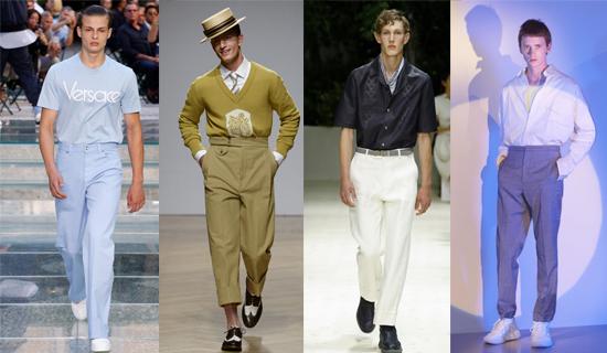 Мужские брюки с высокой посадкой