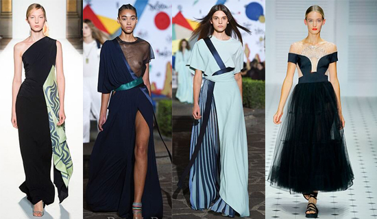 Вечернее платье с прозрачными вставками