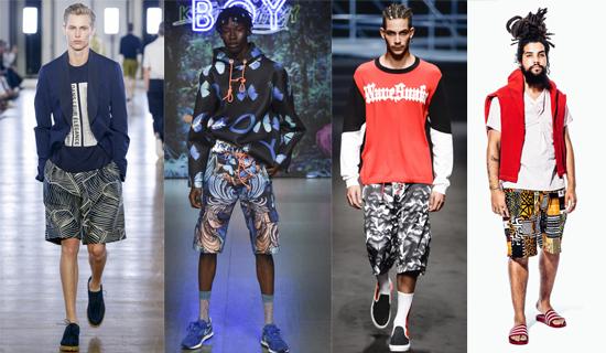 Мужские шорты с рисунком