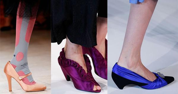 Атласные женские туфли