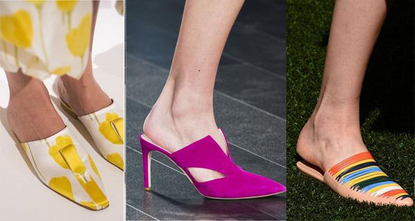 Туфли без задников малиновые