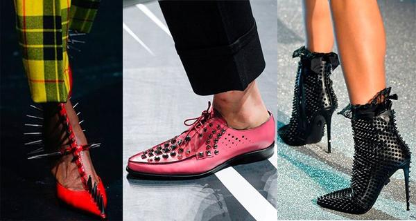 Женские туфли с шипами