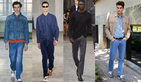Серые мужские джинсы