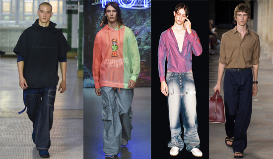 Широкие мужские джинсы летние