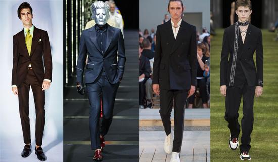 Черный классический мужской костюм