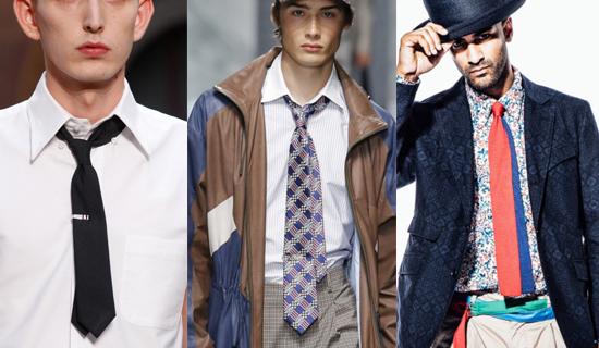 Двойной мужской галстук