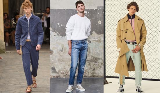 Светлые летние мужские джинсы