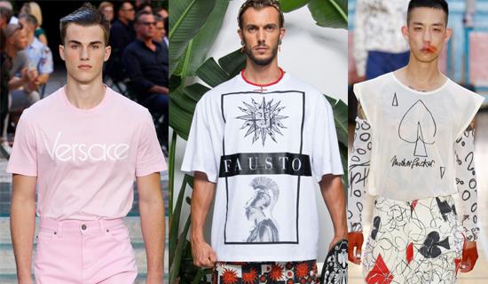 Розовая мужская футболка