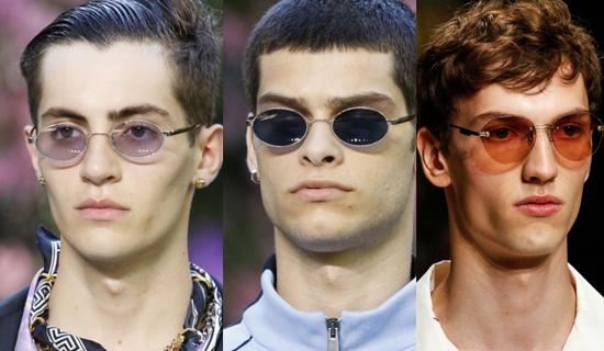 Мужские очки в овальной оправе