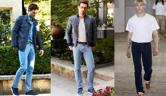 Летние классические мужские джинсы