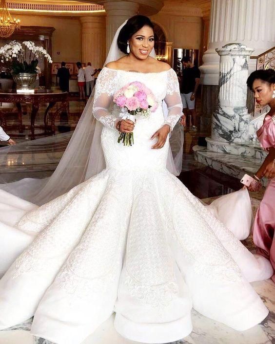 Свадебное платье рыбий хвост для полных девушек