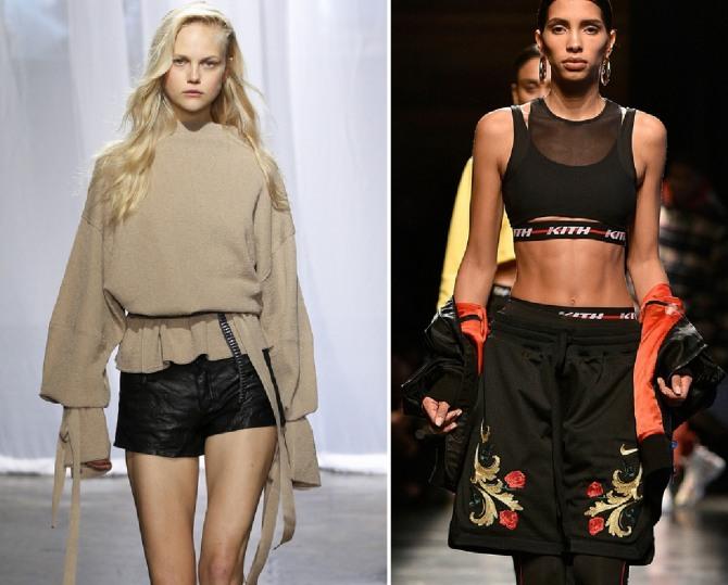 Черные спортивные женские шорты с вышивкой