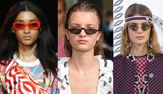 Солнцезащитные очки в  красной оправе