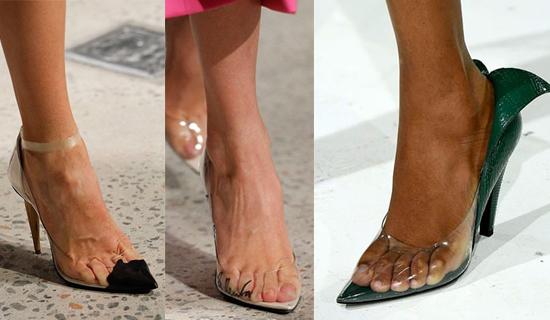 Прозрачные туфли лодочки