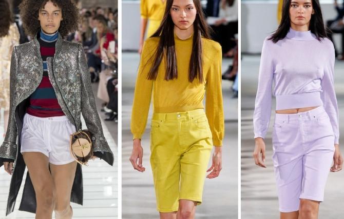 Желтые женские шорты