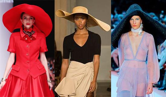 Красная широкополая шляпа