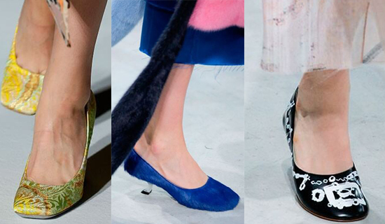 Туфли с круглым носком и маленьким каблуком