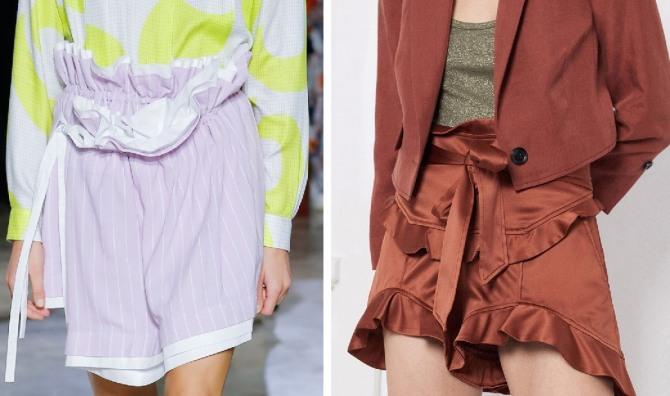 Лавандовые женские шорты