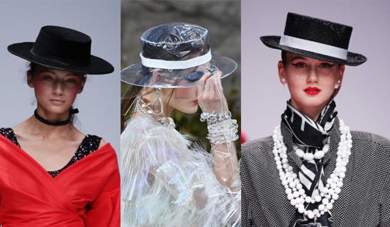 Прозрачная женская шляпа