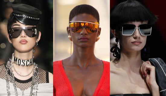 Большие женские очки от солнца