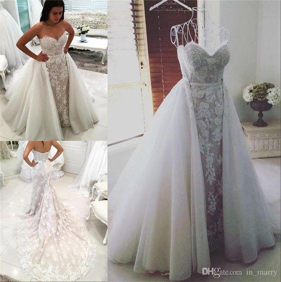 Свадебное платье большого размера с пышной юбкой