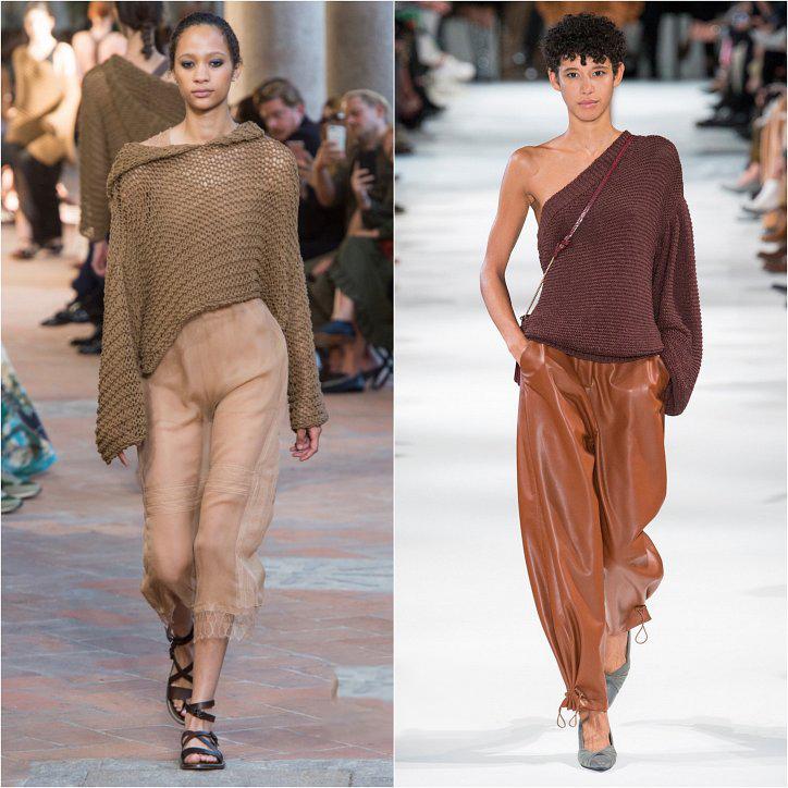 Коричневый женский свитер