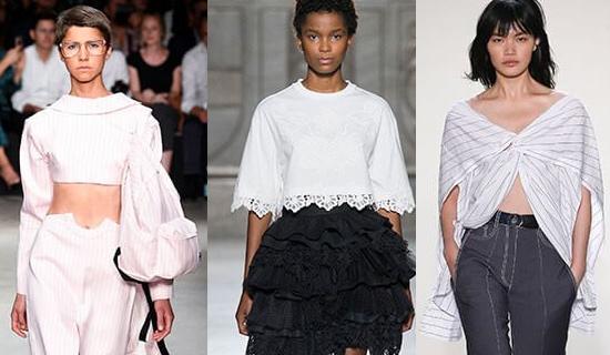 Короткая белая блузка