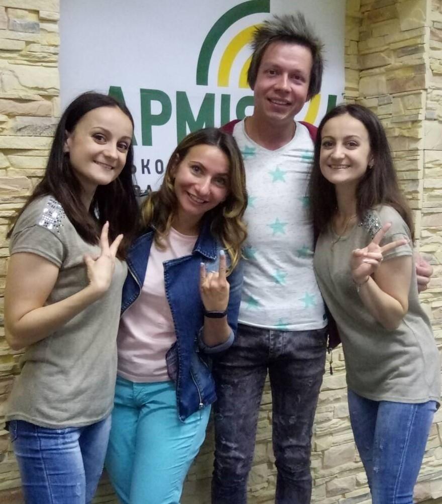 Виталина и Маргарита Мороз на радио АРМИЯ FM