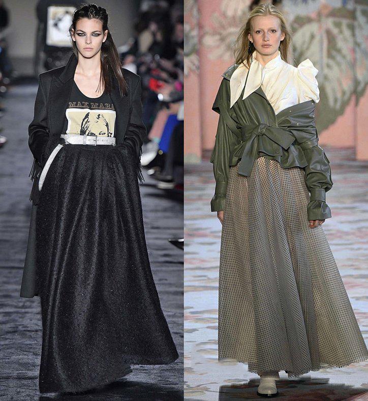 Черная длинная пышная юбка 2019