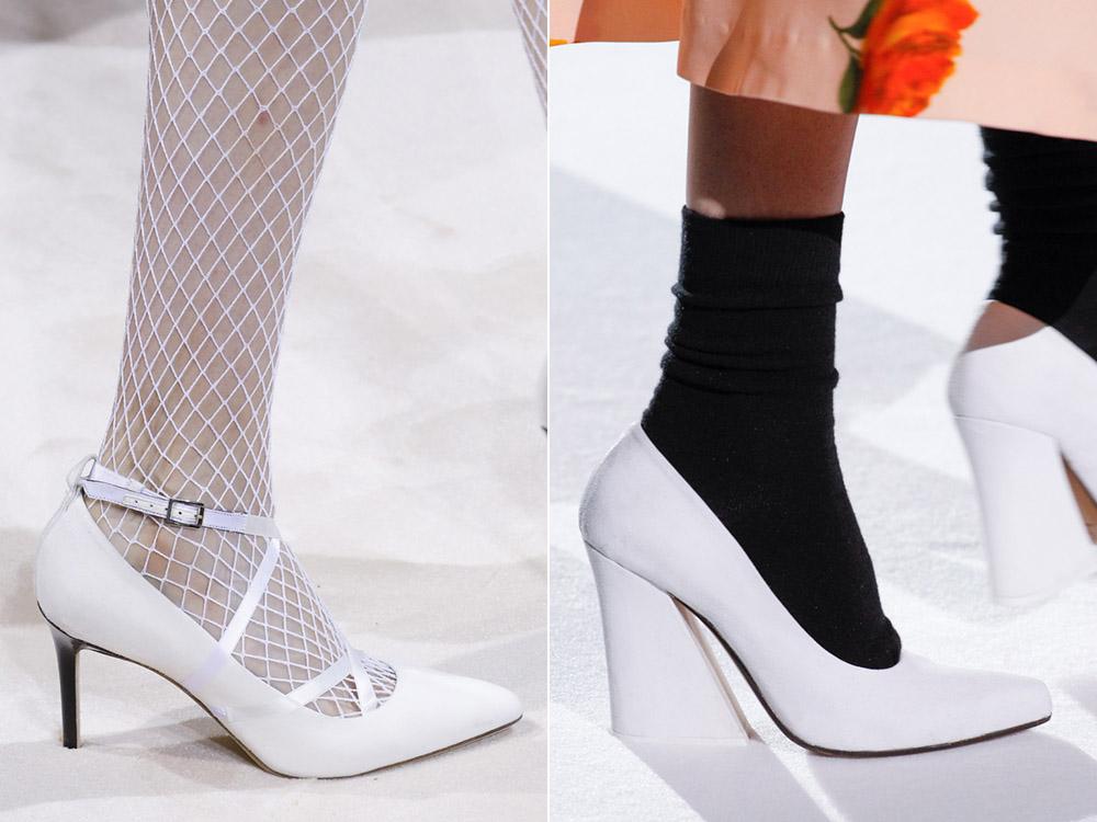 Белые туфли Lanvin