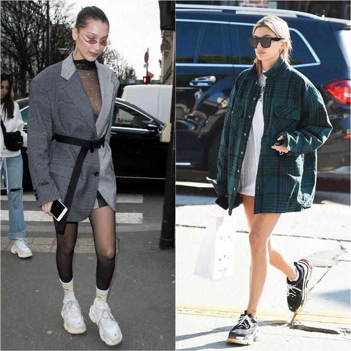 Как носить кроссовки с удлиненным пиджаком
