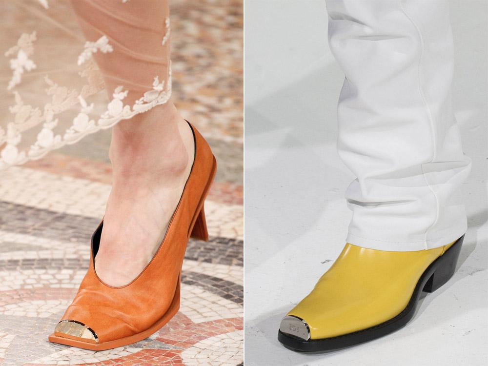 Желтые туфли Calvin Klein