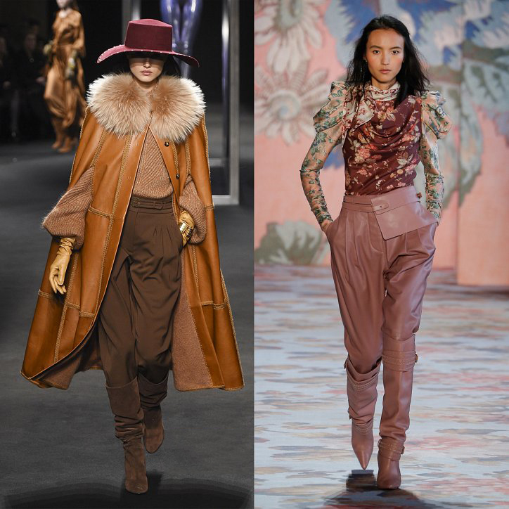 Бежевые брюки галифе