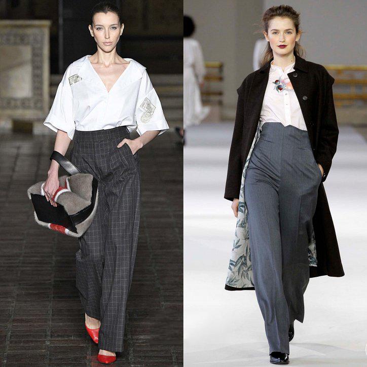 Деловые брюки с высокой талией