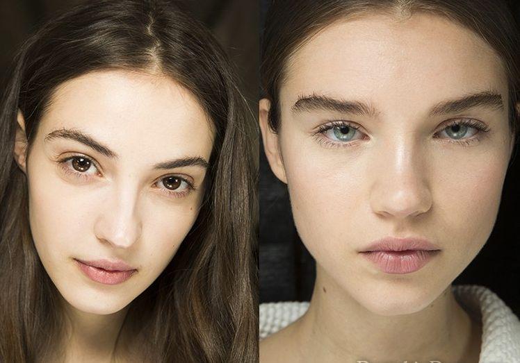 Модный нюдовый макияж осень-зима 2018-2019