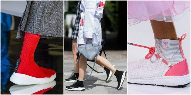 Красные кроссовки-носки