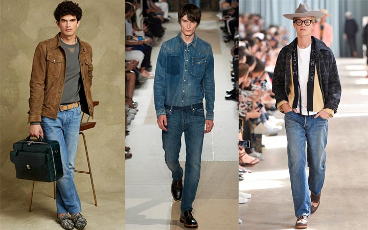 Мужские джинсы низкая талия