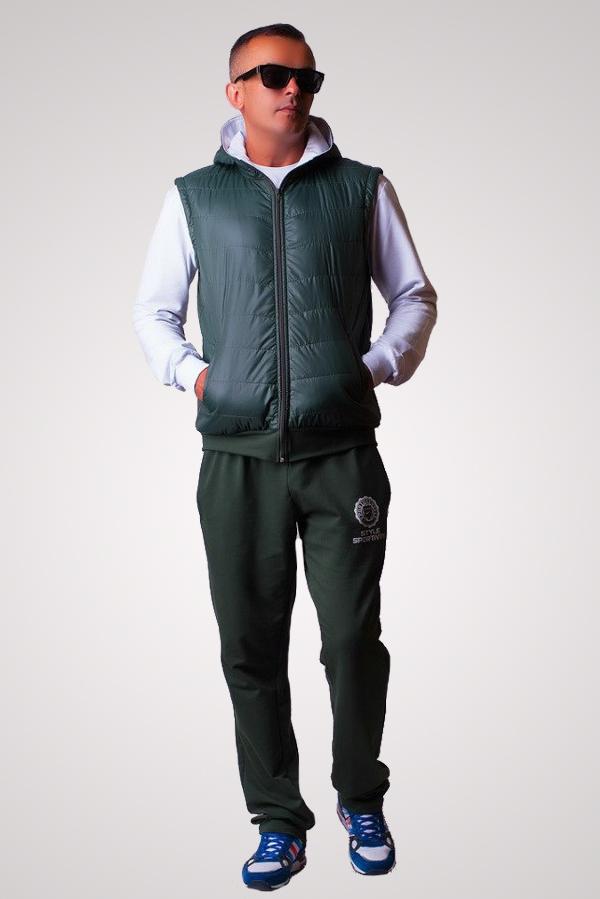 Мужской спортивный костюм с жилеткой