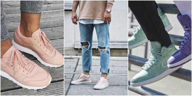 Розовые кроссовки 2019