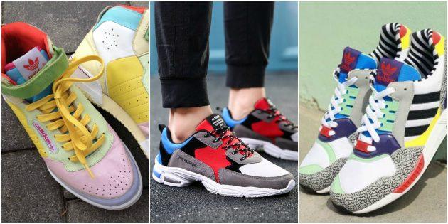 Яркие женские кроссовки 2019