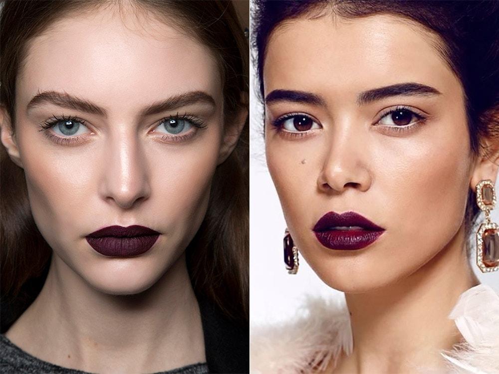 Фиолетовый макияж губ