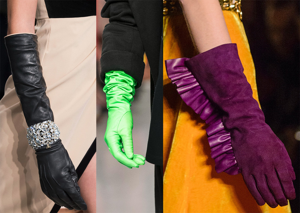 Фиолетовые замшевые перчатки