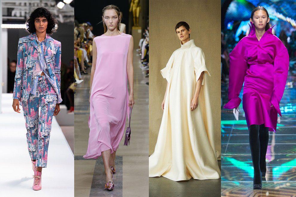 Розовое платье свободного кроя