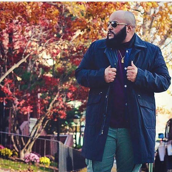 Как носить парку полным мужчинам
