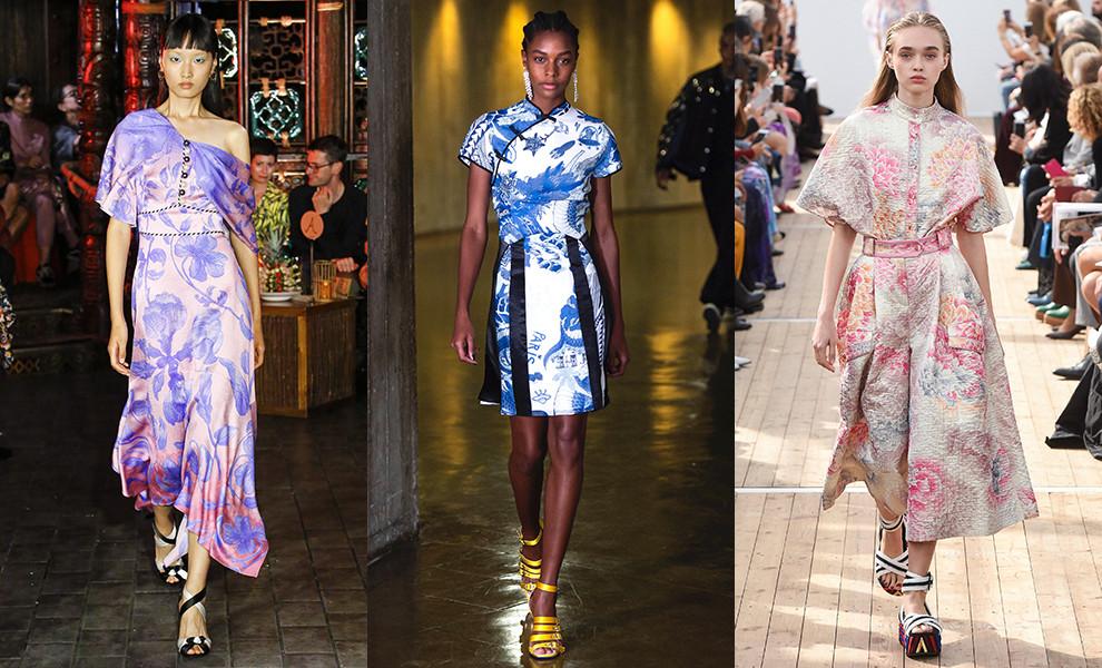 Женское платье в китайском стиле