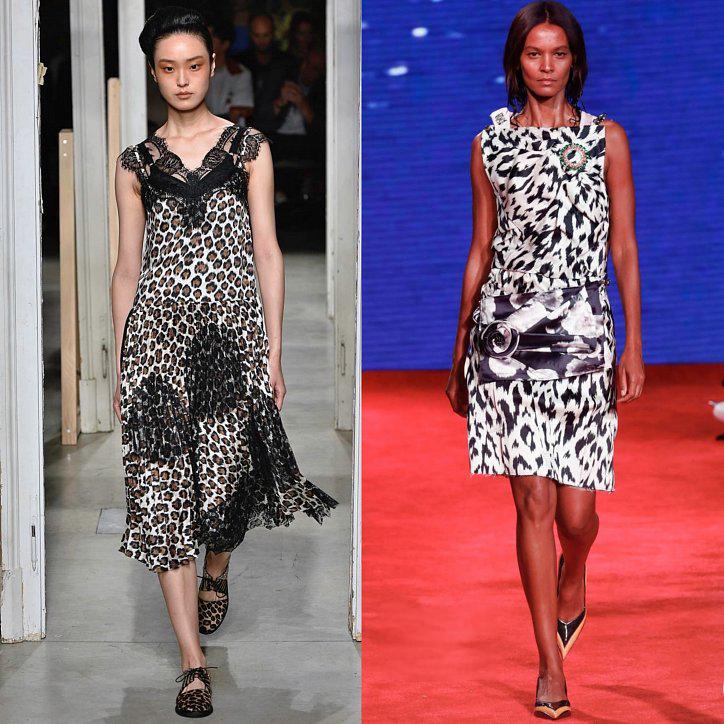 Платье в леопардовым принтом