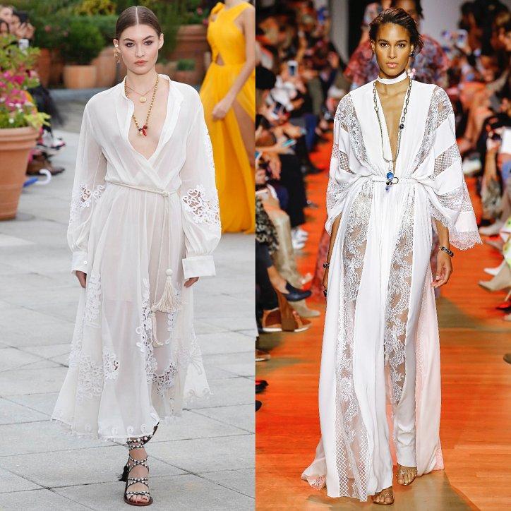 Летнее белое платье